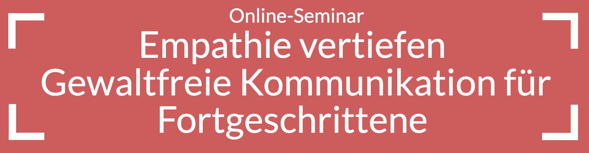 Online-Seminar Empathie vertiefen